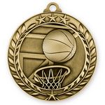 Custom 3D Sports & Academic Medal / Basketball