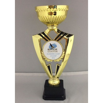 Gold Ribbon 15 Logo Trophy Cup