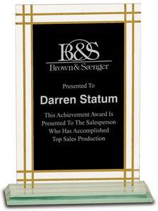 8 1/2 Contemporary Glass Full Border Award