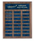 Custom Perpetual Walnut Finish Plaque w/ 24 Plates