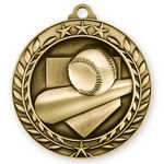 Custom 3D Sports & Academic Medal / Baseball