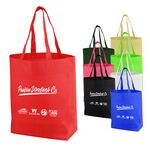 Custom Essential Value Non Woven Tote Bag w/ Bottom Gusset