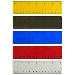 "6"" Translucent Plastic Ruler"