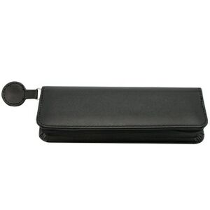 Black Leatherette Pen Case w/ Zipper