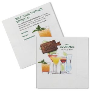 2-Ply, White, Digital Full Color Facial-grade Beverage Napkin