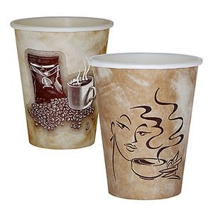 8 Oz. Paper Hot Cup - Flexographic Printed