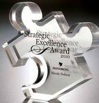 Custom Acrylic Puzzle Piece Embedment Award
