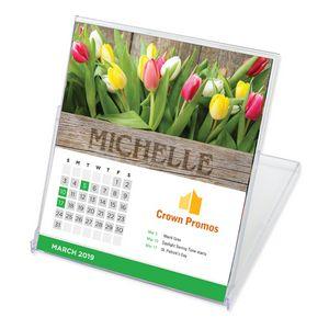 Jewel Case Desk Calendar W/Name Personalization - CD Size