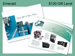 Custom $100 Gift of Choice Emerald Level Gift Booklet