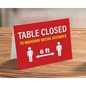 "Inverted V-Shaped Table Tents (5½""x6"")"