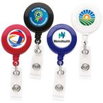 Custom Good Round Retractable Badge Reel (Polydome)