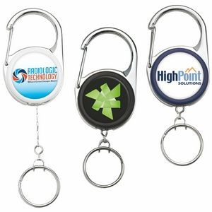 Heavy Duty Carabiner Key Reel (Polydome)