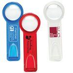 Custom Bookmark Magnifier w/ Ruler (Pad Printed)