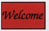 Olefin Standard Design Personalized Carpet (Welcome) (Script) (3x5)