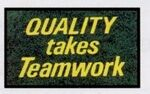 Custom Olefin Quality & Safety Design Personalized Carpet (Quality Takes Teamwork) (3'x6')