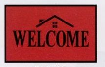 Olefin Standard Design Personalized Carpet (Welcome) (House) (4x6)