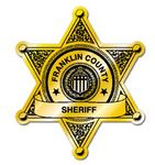 Custom Sheriffs Badge Label (3 1/8