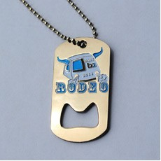 Metal Cast Dog Tag Bottle Opener