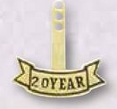 Custom 20 Year Recognition Stock Year Tab for Service Pin