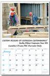 Custom Every Month Imprint - 12 Custom Photos Wall Calendar