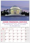 Custom 16 Month Calendar W/ American Heritage Pictures