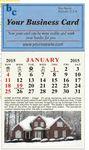 Custom Nova Line Real Estate Magnetic Business Card Calendar (January - December)