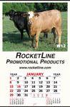 Custom Jumbo Queen Mary Indoor Billboard Wall Calendar W/ Cow Cousins Picture
