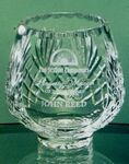 Custom Lead Crystal Footed Rose Bowl Award