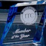 Custom Blue/ Clear Acrylic Paperweight Award (4