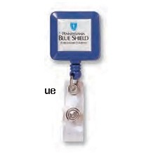 Square Retractable Solid Color Badge Holder
