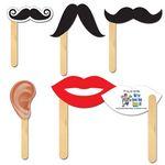 Custom Lips, Mustaches & Ears Fun Faces Hand Fans