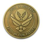Custom Die Struck Brass Coin (1-3/4