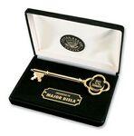 Custom Black Presentation Box w/Gold Plated Key
