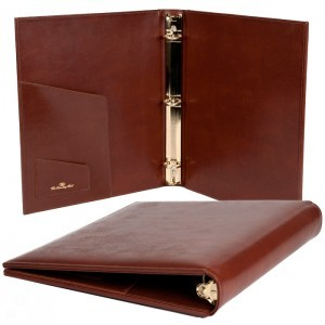 "Leather 3 Ring Binder (1/2"" to 2"" Capacity)"