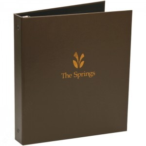 "Leatherette 3 Ring Binder (1/2"" to 2"" Capacity)"