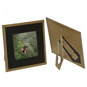 "Gold Border Carolina Polaroid Photo Holder (3""x3"" Window Size)"