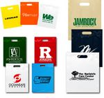 Custom Plastic Bags Reinforced Fold Over Top w/ Die Cut Handles (7 1/2