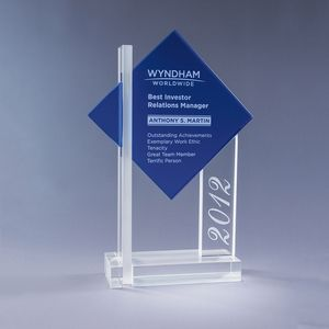 Blue Ultra Crystal Award (Small)