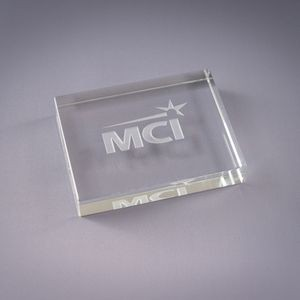 Rectangle Optic Crystal Paperweight
