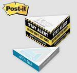 Custom Post-it Notes Custom Printed Slim Triangle Cube Note Pad (3 3/4