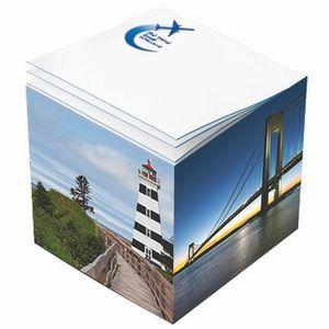Post-it Custom Printed Noted Full Cube (3 3/8x3 3/8x3 3/8)