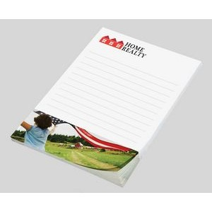 "Custom Printed Low Quantity Digital Post-it® Notes (4""x6"") 25 Sheets/ 4 Color"