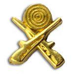 Custom Crossed Rifles Chenille Letter Pin