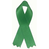 "Blank Organ Donor Awareness Ribbon with Tape (3 1/2"")"