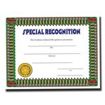 Custom Special Recognition Stock Certificate