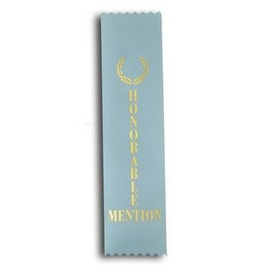 "Honorable Mention Standard Stock Ribbon w/ Pinked Ends (2""x8"")"