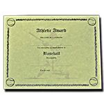 Custom Stock Male Baseball Antique Parchment Certificate