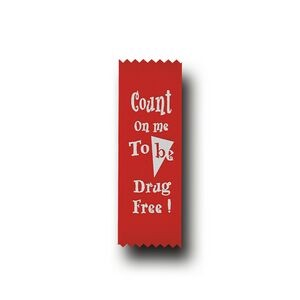 Red Stock Count On Me To Be Drug Free Econo Drug Free Ribbon