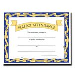 Custom Perfect Attendance Stock Certificate