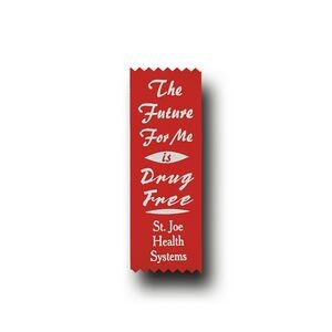 Red Custom The Future For Me is Drug Free Econo Drug Free Ribbon